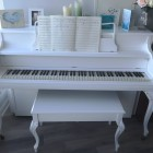 white piano - after